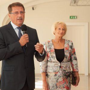 Predseda Národnej rady Slovenskej republiky Pavol Paška na vernisáži výstavy v priestoroch Bratislavského hradu (september 2013)