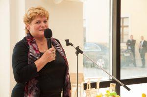 Príhovor riaditeľky MŠ Mgr. Eriky Lukáčekovej na vernisáži v priestoroch Bratislavského hradu (september 2013)