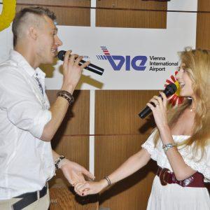 Thomas Puskailer v duete so svojou snúbenicou Abbie. (MDD 2012)