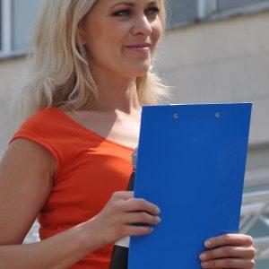 Moderátorka podujatia - stále krásna Janka Hospodárová. (MDD 2011)