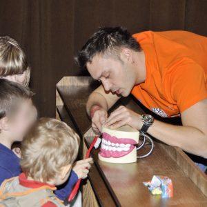 Veselé zúbky - náučno-zábavné podujatie pre deti s Robom Pappom (marec 2013)