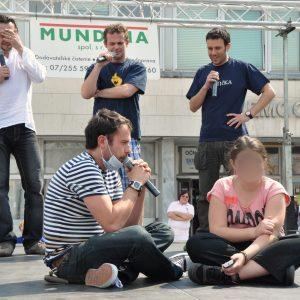 Partička v plnom nasadení - L. Latinák, M. Miezga, R. Jakab a J. Kemka. (MDD 2011)